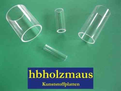 4,69€//m PLEXIGLAS® Acrylglas Rohr XT Klar Ø 20//16 mm Zuschnitt wählbar